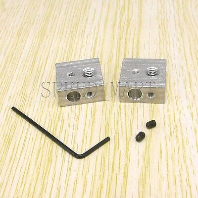 2x Aluminium Heater Block Assembly Extruder Hot End For Makerbot 3d Printer New