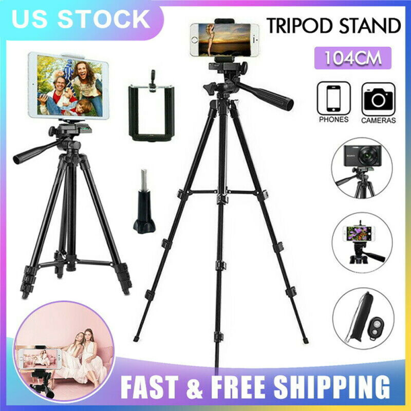 Universal Black Camera Tripod Stand Holder Mount for iphone Samsung Cell Phone
