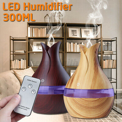 300ml remote 7 led ultrasonic essential oil