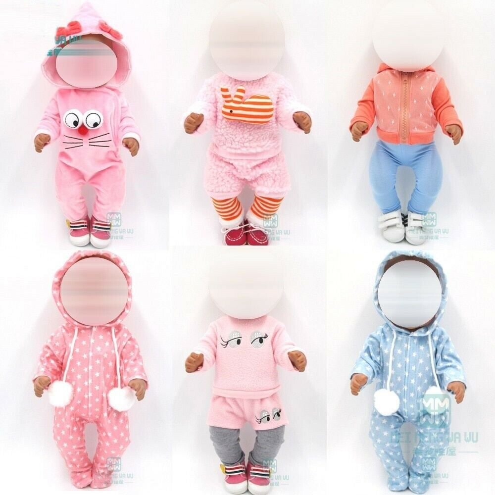 Doll Clothes Dress Outfits Pajames Fit 43cm Toy New Born Doll Accessories Baby