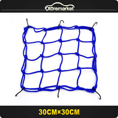 1x Cargo Net Motorcycle Helmet Mesh Luggage Tie Down Bungee Cord Adjustable (St4 Tie)