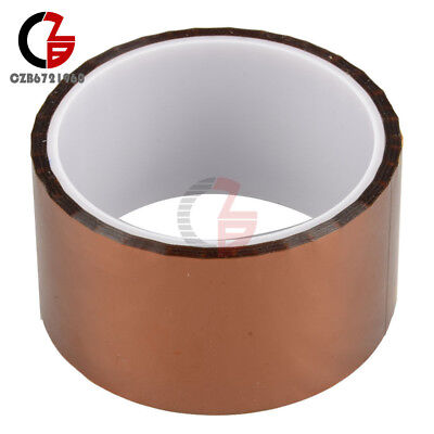 5cm 50mm X 30m Kapton Tape Sticky High Temperature Heat Resistant Polyimide