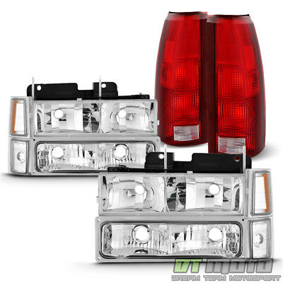 1994-1998 Chevy C/K Suburban Tahoe Headlights +Corner+Bumper Lamp+Tail Lights
