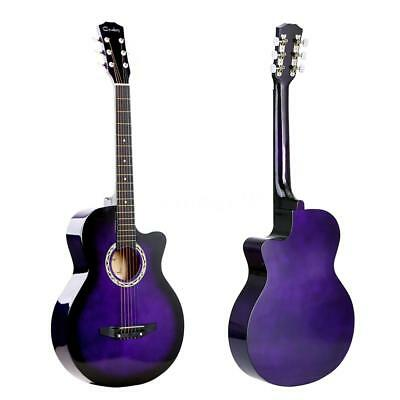 "38"" Acoustic Folk 6-String Guitar Best Gift for Beginners Students G1T4"