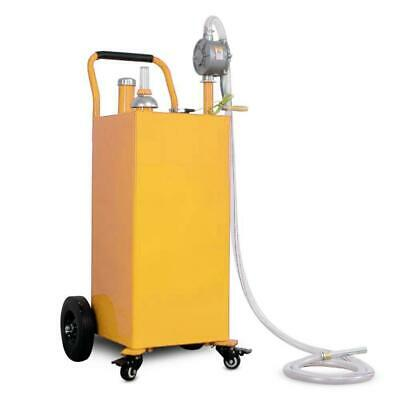 35 Gallon Gas Fuel Diesel Caddy Transfer Tank Container W Rotary Pump Auto New