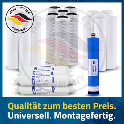 3 Jahre 25 Stück Ersatz Trinkwasserfilter 5 Stufen Umkehrosmose + 75 GPD Membran - Stufe 3 Wasser