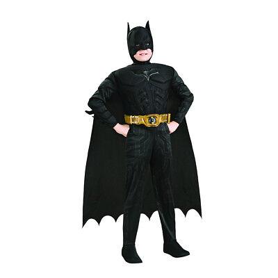 Batman Dark Knight Deluxe Boys Child Kids Youth Muscle Chest Costume (Kids Dark Knight Costume)