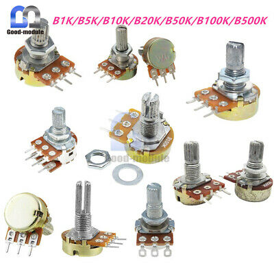B1kb5kb10kb20kb50kb100kb500k Ohm 3pin Linear Taper Rotary Potentiometer