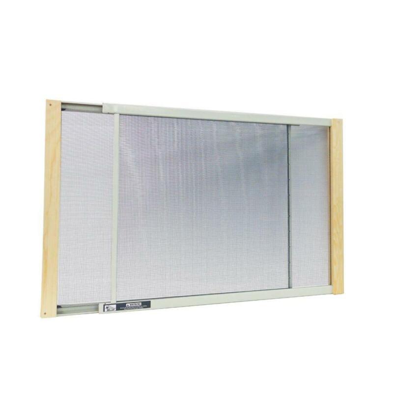 Multi Size ALUMINUM ADJUSTABLE WINDOW SCREEN Heavy Duty Wood Reinforced Framing