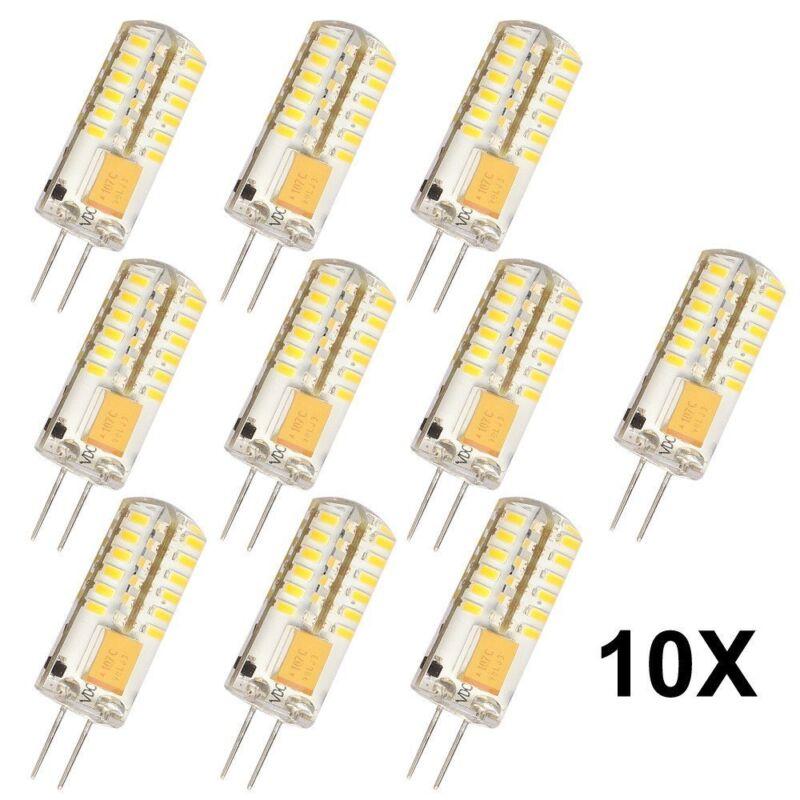 G4 3 Watt Energiesparende Glühbirnen 10pcs DC 12V 48 SMD 3014 LED Warmweiß
