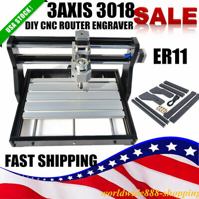 Cnc 3 Axis Diy Router 3018pro Laser Milling Engraving 2in 1 Machine Pcb Carving