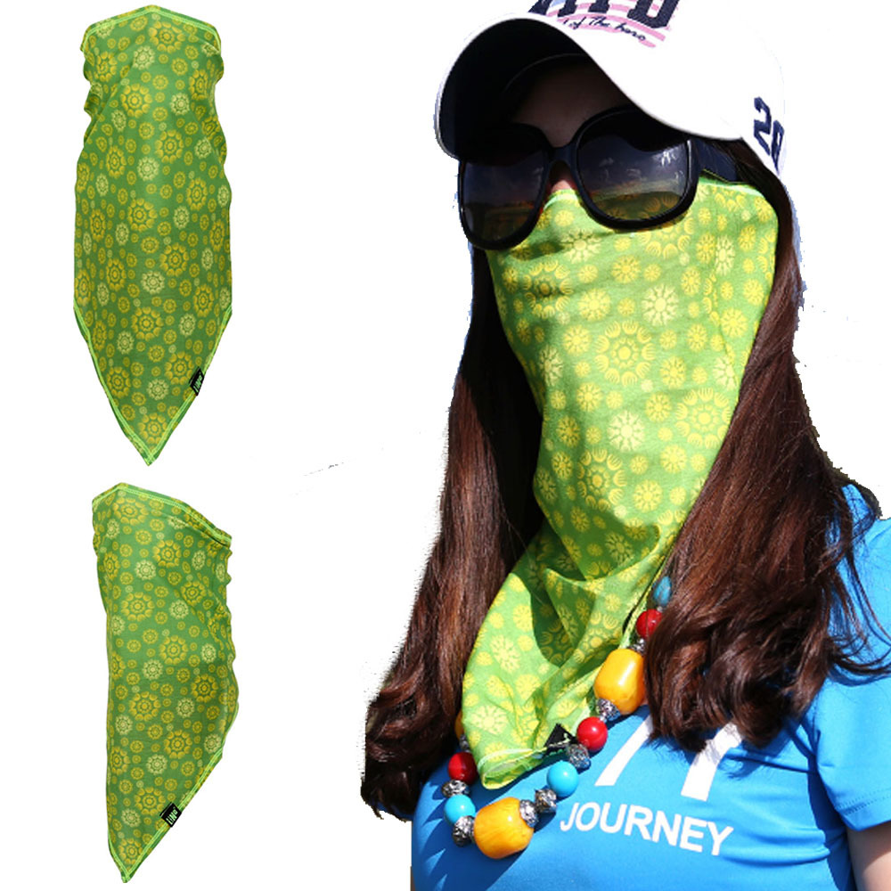 Triangle Tube Face Mask Neck Gaiter Summer Sun Shield Windproof Bandanas Scarf Clothing, Shoes & Accessories