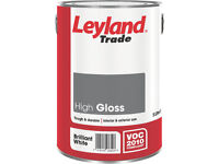 Leyland Trade High Gloss Paint Brilliant White 5 Ltr