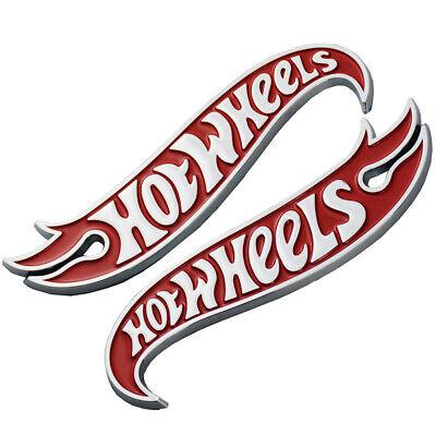 Set Chrome Red Camaro Hot Wheels Edition Deck Lid Emblem Badge 3D logo Hotwheels