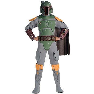 Star Wars - Deluxe Adult Boba Fett W/ Mask](Boba Fett Costume)