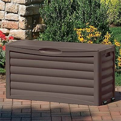 Suncast 63-Gallon Storage Deck Box - DB6300B - Mocha Brown