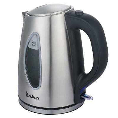 1500W Electric Tea Kettle Coffee Pot Hot Water Fast Boil Stainless Steel 1.8L
