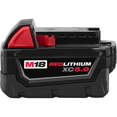 Milwaukee 48-11-1850 M18 18-Volt 5.0Ah REDLITHIUM XC Extended Capacity Battery