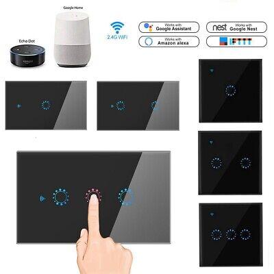1/2/3 Gang WiFi Smart Touch Panel US/EU Light Switch APP for Alexa Google (App For Glasses)