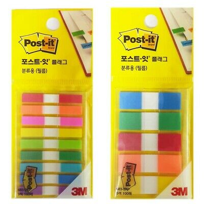 2 Pack 280 Sheets 3m Post-it Flag Page Marker Bookmark Point Sticky Note