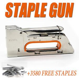 New 4-6-8MM Handy Staple Gun Tacker Upholstery Stapler + 3580 Staples Kit Bonus