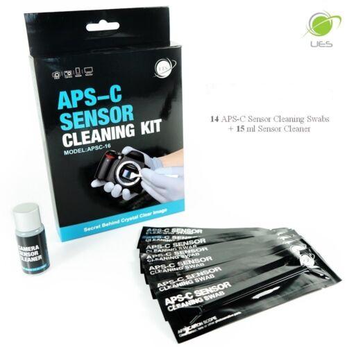 UES APSC-16 DSLR APS-C Sensor Cleaning Kits: 14 X 16mm Swabs + 15ml Cleaner