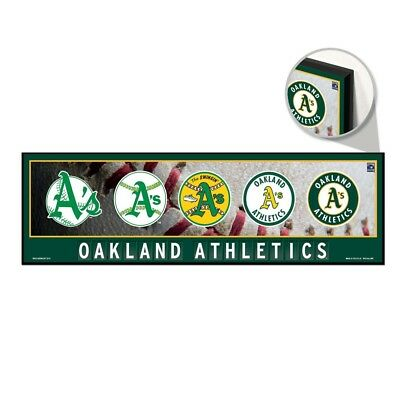 Oakland Athletics Wood Sign - OAKLAND ATHLETICS RETRO LOGO'S COOPERSTOWN WOOD SIGN 9