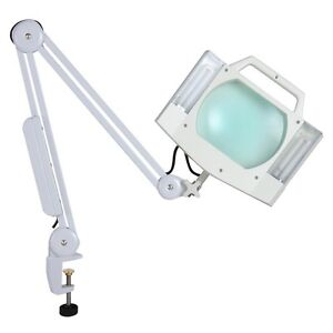 Clamp On Desk 5X Magnifying Lamp Light Magnifier Beauty Salon Jewelry Reading
