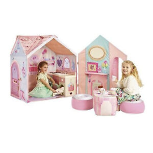 Dream Town Rose Petal Cottage Kids Play House & Cooker Box Poor
