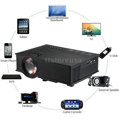 UC46 Wifi Full HD 1080P LED Video Projector Home Cinema Theater SD TV/USB/VGA/PC