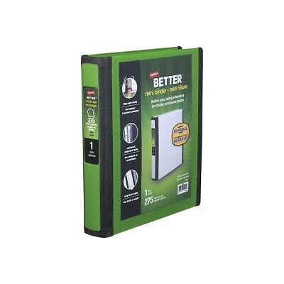 Staples Better Mini 1-inch D 3-ring View Binder Green 20943 924528