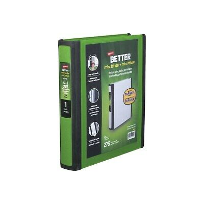 Staples Better Mini 1-Inch D 3-Ring View Binder Green  92452
