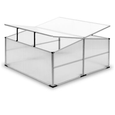 DEUBA Cold Frame Aluminium Greenhouse Grow House Hothouse Polycarbonate Planting