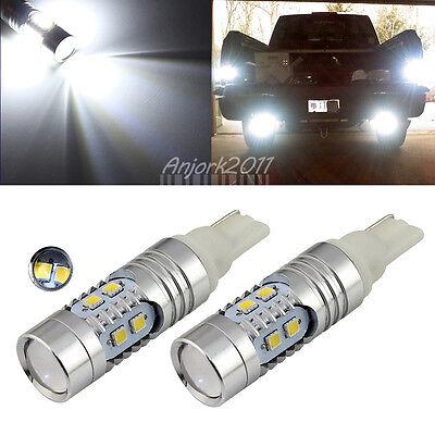 2X 6000K Cool White 921 912 T10 T15 Backup Reverse LED Light Bulb
