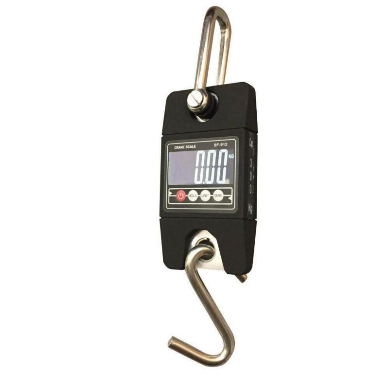 SF-912 500KG 660LBS Electronic Portable Mini Crane Scale Charger Kg/Lb Black