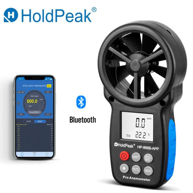 0.3~30m/s Digital Anemometer Wind Speed Meter Phone APP Measure Temperature Test