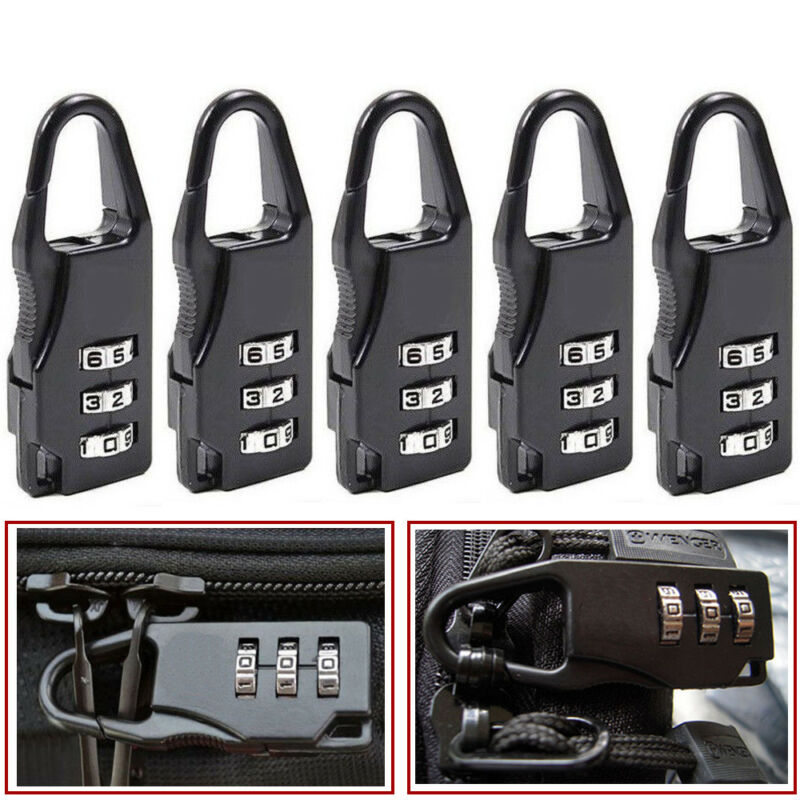 5Pcs Mini 3 Digit Resetable Combination Travel Luggage Suitcase Lock Padlock Hot