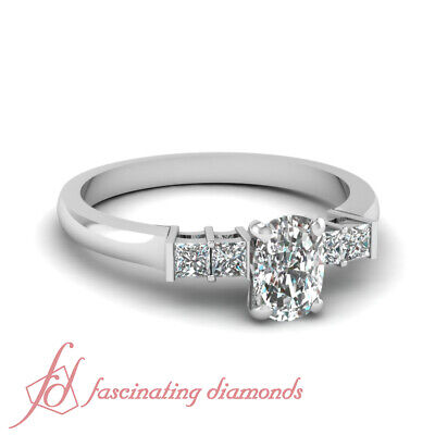 3/4 Ct Cushion Cut:Very Good Diamond Engagement Rings For Women VS2-F Color GIA