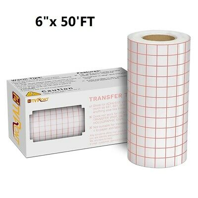 6x 50ft Vinyl Transfer Tape Roll Craft Application Paper For Signs Stickers