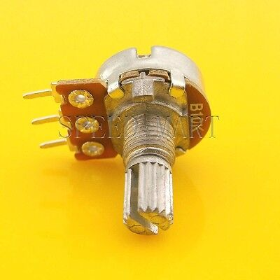 B10k Ohm Linear Taper Rotary Potentiometer Pot 25mm Shaft 3 Pins