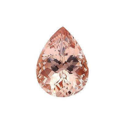 1.20ct 9x6mm Natural Pear Shape Morganite Loose Gemstones