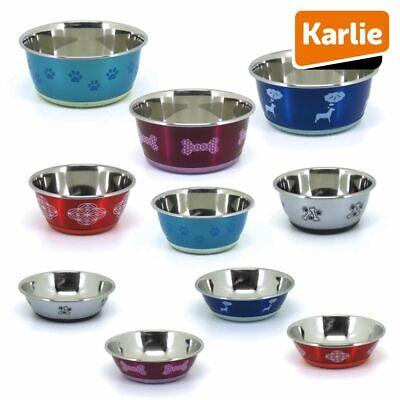 Edelstahl Napf SELECTA - bunt - Futternapf Wassernapf Fressnapf für Hunde/Katzen