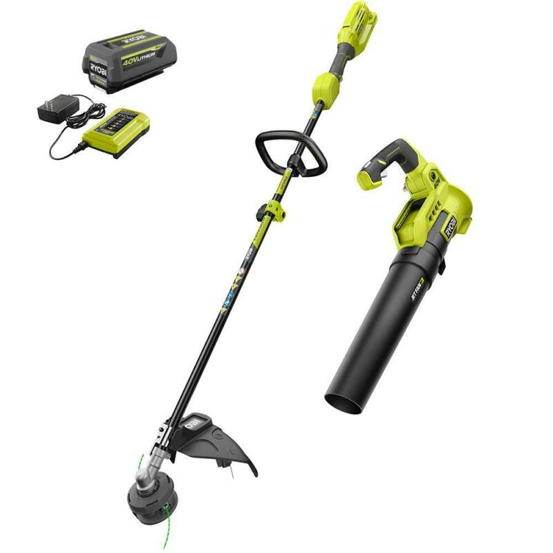 RYOBI 40-Volt Cordless String Trimmer and Blower Combo Kit (2-Tools)