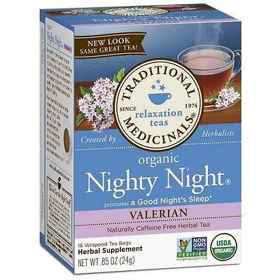 Traditional Medicinals Organic Herbal Tea Bags, Nighty Night Valerian 16 (Nighty Night Tea Bags)
