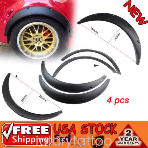 Car Parts - Universal Black Fender Flares Polyurethane Flexible Durable 75cm Auto Car Kit