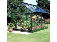 Halls Popular 8ft x 6ft Greenhouse - 2 years old - long pane toughend glass