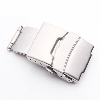 Stainless Steel Folding Clasp - New Stainless Steel Deployment Double Lock Buckle Folding Clasp For Breitling