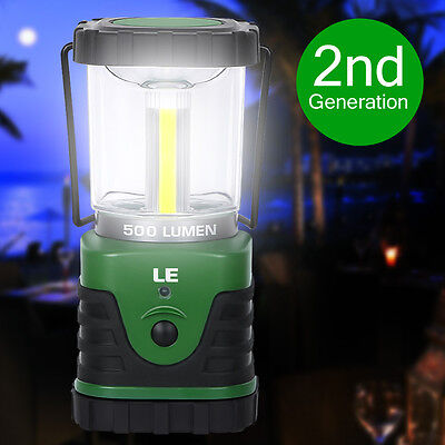LE Ultra Bright 500lm Outdoor 9W LED Lantern Camping Hiking Lamp Battery Powered