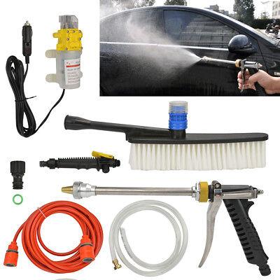 Portable 12V 100W High Pressure Car Sprayer Washer Cleaner Wash Water Pump Set