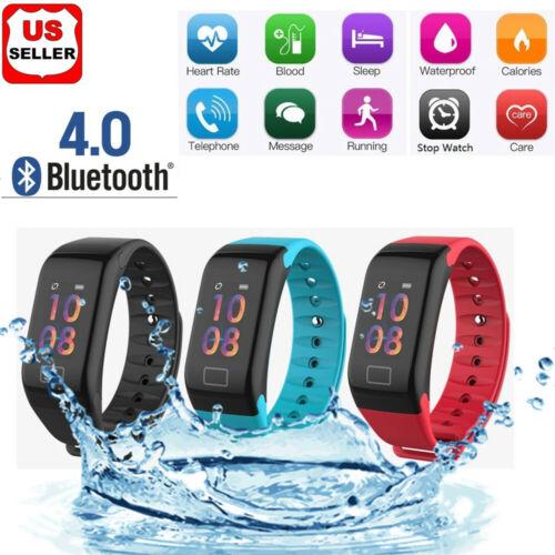 Sport Blood Pressure Oxygen Heart Rate Fitness Smart Watch Wrist Band Bracelet F Cell Phones & Accessories